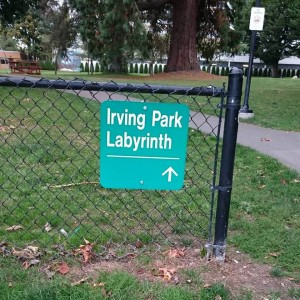 Irving Park Labyrinth Sign